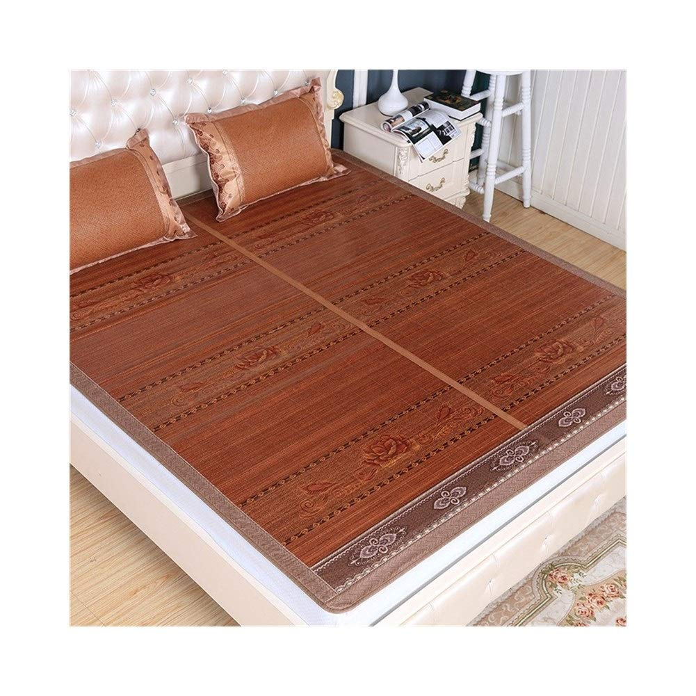 1.8x2.15m Rattan Cooling Mattress Top Mat,Collapsible Cool Summer Sleeping Mat,Student Dormitory Smooth Mat,Cool Without Ice (Size   1.8x2.15m)