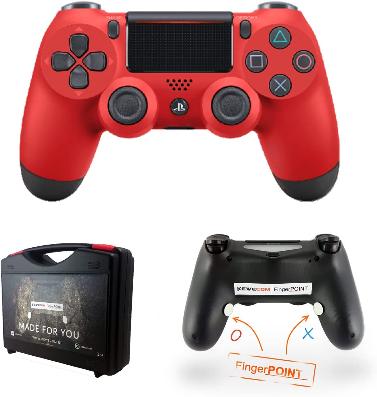 Kewecom Playstation 4 Dualshock Dedos Point PS4 scuf Controller V2 ...
