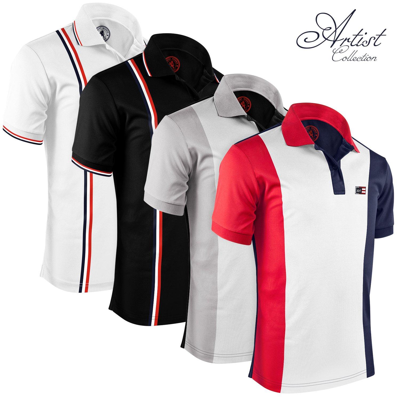 Galleon - Albert Morris Mens Polo Shirts (4 Pack cc6f54f445764