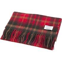Edinburgh 100/% Lambswool Luxury Scottish Tartan Stole Dark Maple