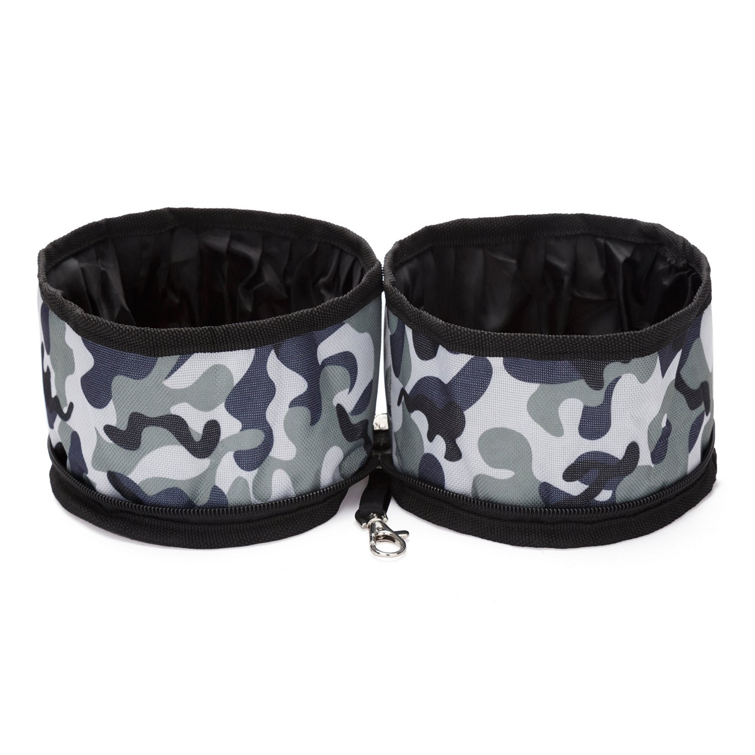 Ultrafun Travel Pet Bowl Collapsible Double Water & Food Bowls for Dogs & Cats Outdoor On The Go (Camo)