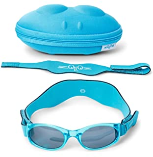 0755e0e67138 Tuga Baby Toddler UV 400 Sunglasses with Two Adjustable Straps and Case (0-
