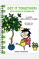 Sarah's Scribbles 16-Month 2020-2021 Weekly/Monthly Planner Calendar: Get It Together! Calendario