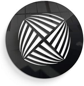 SABA Black Round Vent Cover - Air Register 10