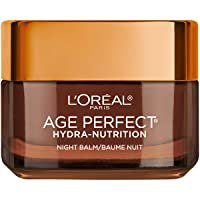 Skincare Age Perfect Hydra Nutrition Ultra Nourishing Honey Night Balm Face Moisturizer to Comfort and Improve Resilience on Dry Skin, Manuka Honey and Nurturing Oils, Paraben Free, 1.7 oz.