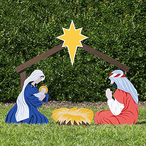 Outdoor Lighted Plastic Nativity in US - 2