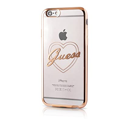 COVER HARD CASE ROSE ORIGINALE GUESS GUHCP6LFRO PER IPHONE 6/6S PLUS