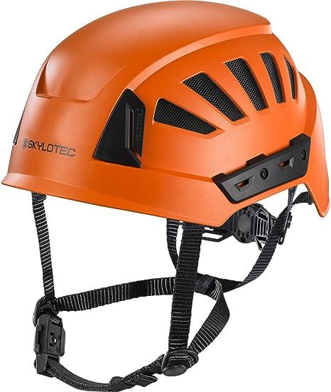 SKYLOTEC Casco de escalada industrial INTERCEPTOR GRX naranja PC/ACRYLNITRIL-BUTADIEN-STYROL