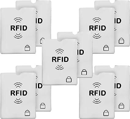 10Pcs RFID Blocking Sleeve Credit Card Protector Bank Card Holder Wallets Trendy