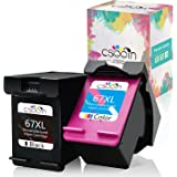 cseein Remanufactured Replacement HP67 XL HP 67 Ink Cartridges For HP ENVY 6052 6055 6058 6075 Pro 6452 6455 6458 DeskJet 125