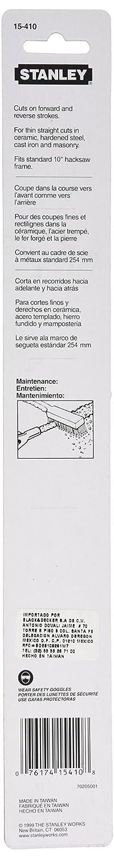 STANLEY 15-410 Rod Saw - Carbide Grit Blade, Hacksaw Blade