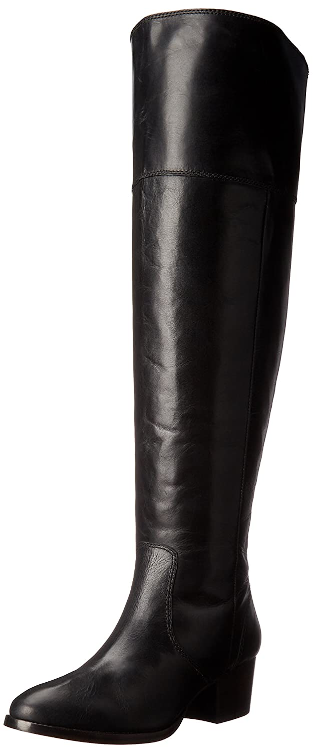 FRYE Women's Clara OTK Leather Slouch Boot B01AA8N79W 6 B(M) US|Black Extended Calf