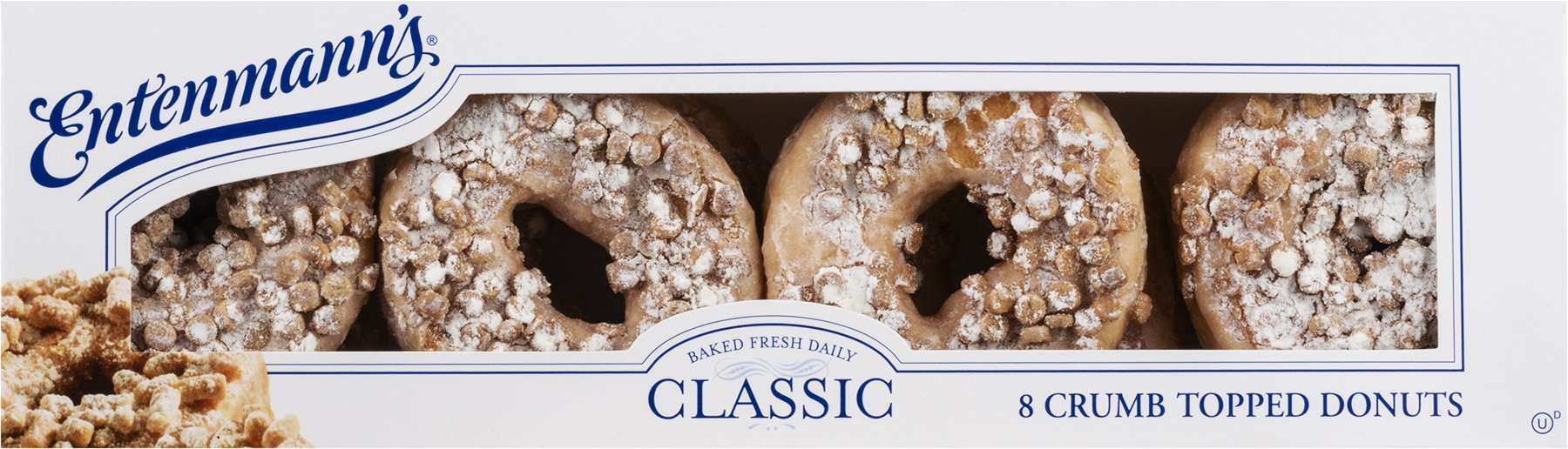 Entenmann's Classic Crumb Topped Donuts - 8 CT