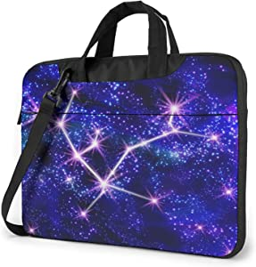 Andromeda Constellation Laptop Shoulder Messenger Bag,Laptop Shoulder Bag Carrying Case with Handle Laptop Case Laptop Briefcase 15.6 Inch Fits 14 15 15.6 inch Netbook/Laptop