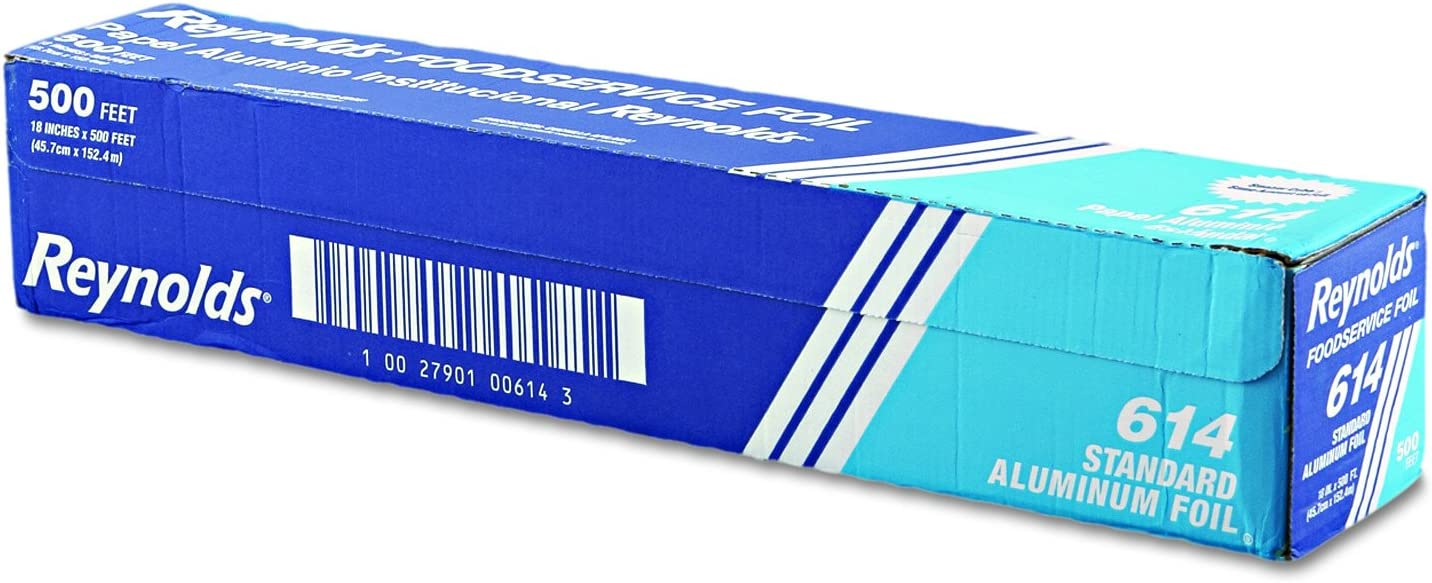 "Reynolds Wrap 614 Standard Aluminum Foil Roll, 18"" x 500 ft, Silver"