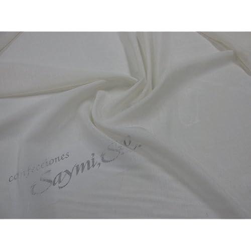 Metraje 0,50 mts tela Voile tacto Crepe visillo cortinas color Crudo, con ancho 3,00 mts.