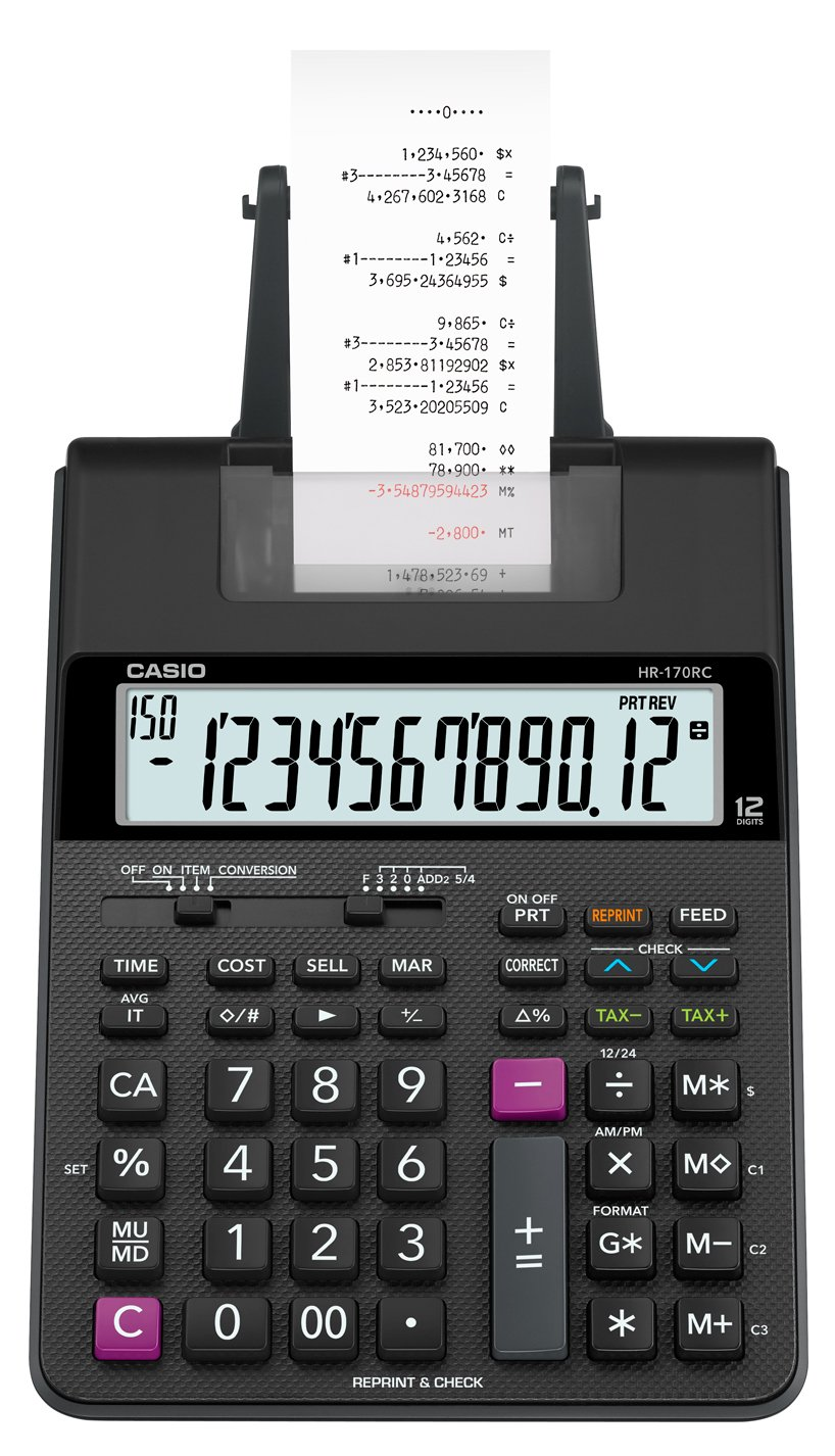 Casio HR-170RC Mini Desktop Printing Calculator