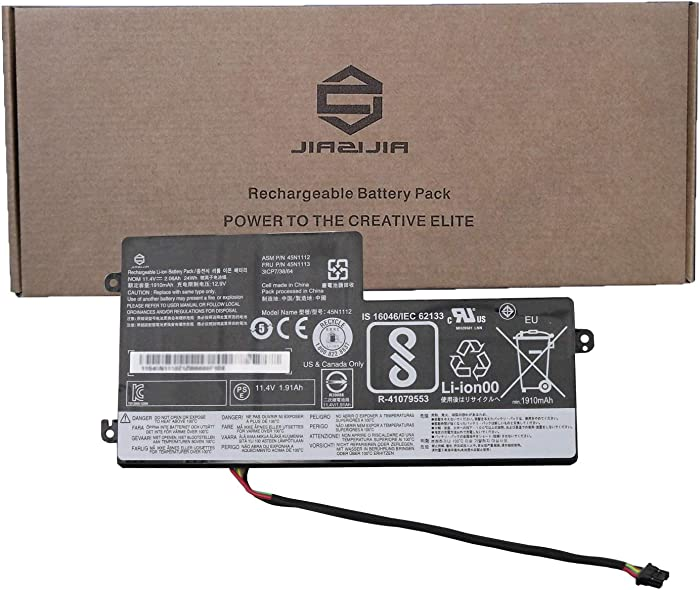 JIAZIJIA 45N1112 Laptop Battery Replacement for Lenovo ThinkPad T440 T450 T450S T460 X240 X240S X250 X260 Series Internal 45N1113 45N1111 01AV459 45N1109 45N1773 121500145 11.4V 24Wh 2060mAh
