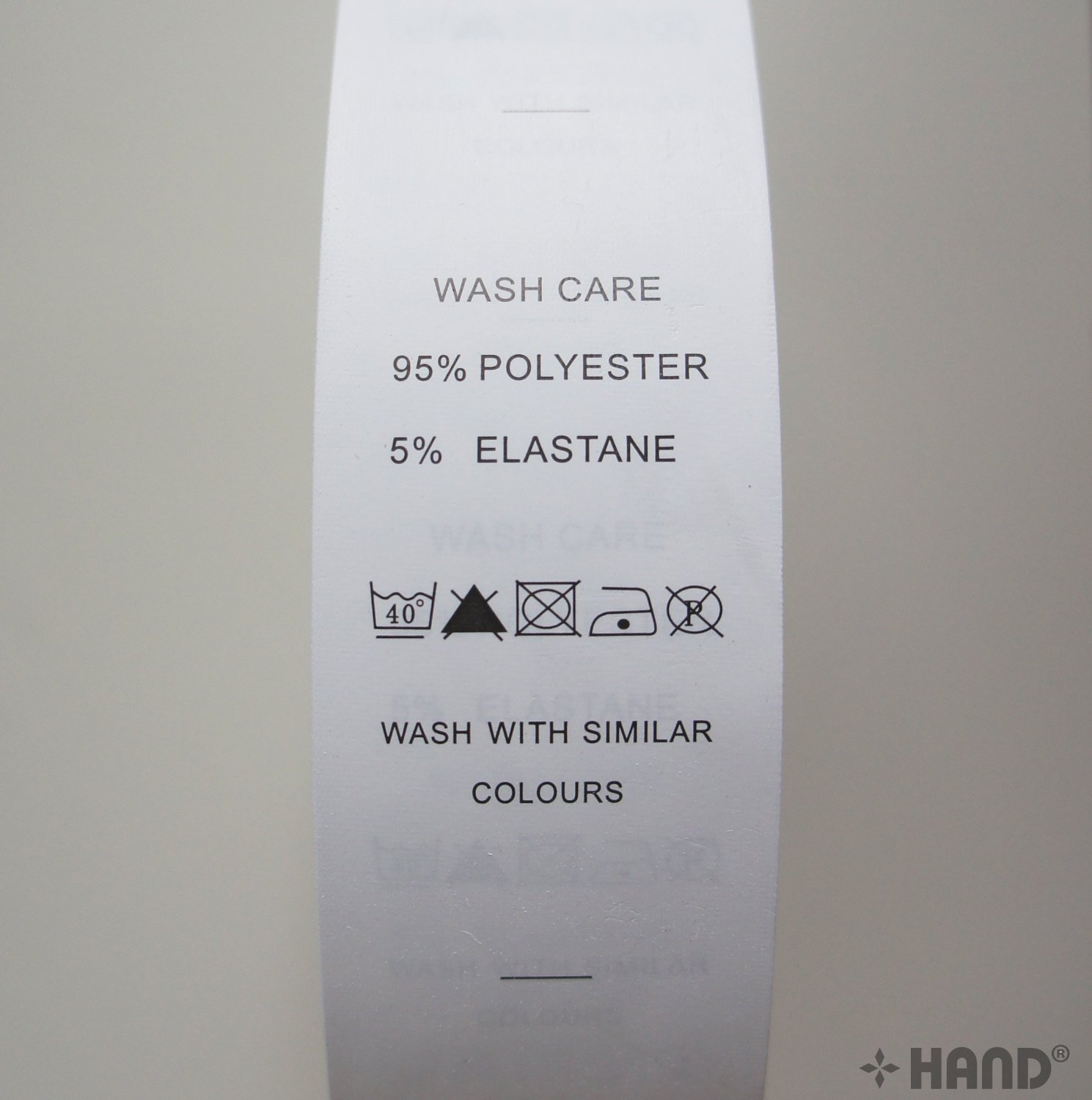 Perfect Amazon.com : Wash Care Labels Printed Paper Fabric Material 95  HG08