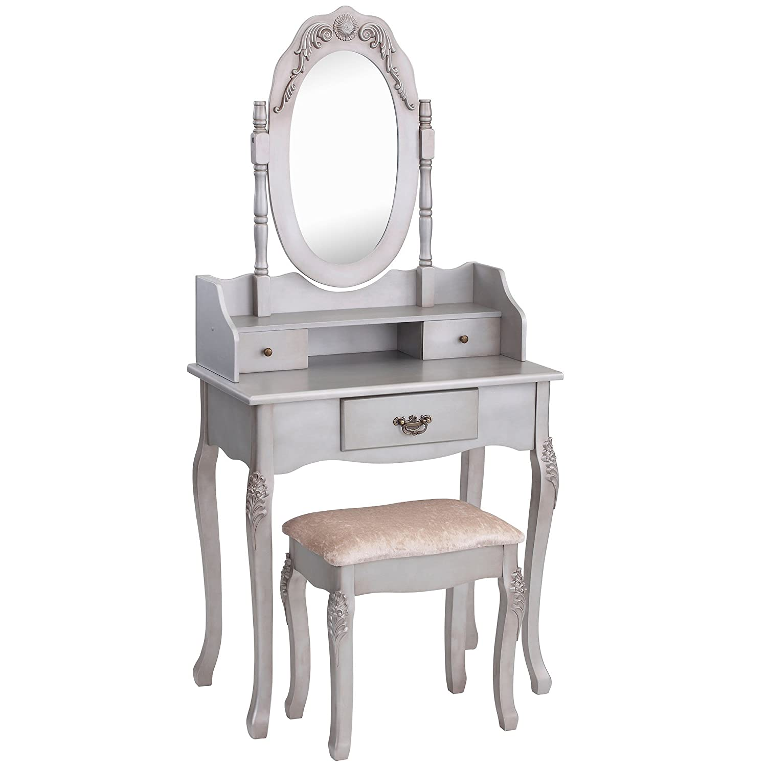 Vanity Set With Stool Poundex Vanity Set With Stool