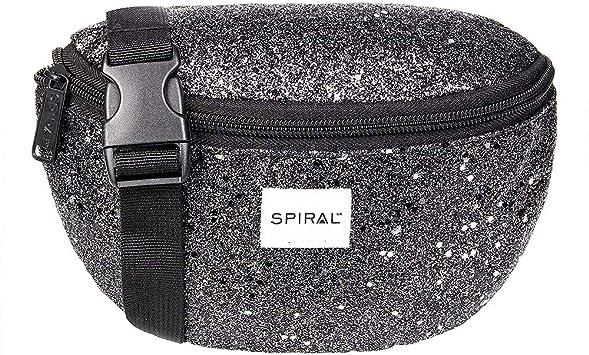 Oferta amazon: Spiral Black Stardust Bum Bag Riñonera de Marcha, 24 cm, 3 Liters, Negro (Black)