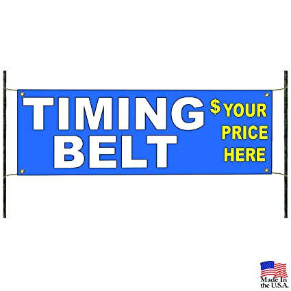 Amazon com: Timing Belt Service Here Banner Sign Automotive