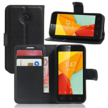 save off d8e20 503b5 Nadakin Vodafone Smart Mini 7 Phone Case Premium Quality Leather Wallet  Flip Stand Cover Pouch With Magnetic Clasp Card Holder for Vodafone Smart  Mini ...