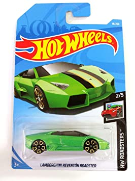 Hot Wheels 2019 Lamborghini Reventon Roadster Green 18 250 Long
