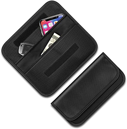 Anti-Theft Auto Car Keyless Key Entry Fob Guard Signal Blocker For Faraday Bag R