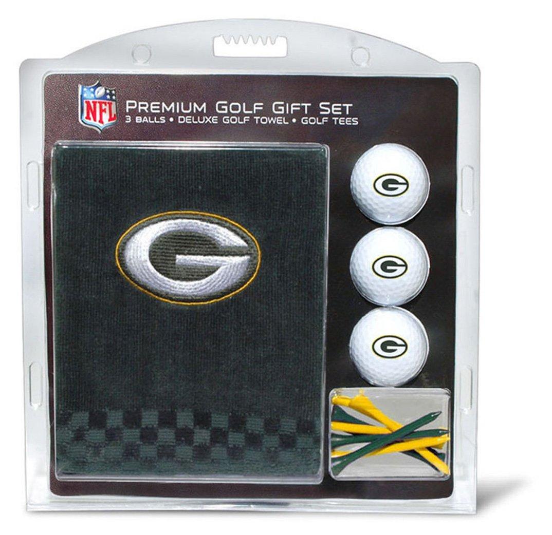 Team Golf NFL Gift Set Embroidered Golf Towel 3 Golf Balls and 14 Golf Tees 2 3 4 Regulation Tri Fold Towel 16 x 22 100% Cotton