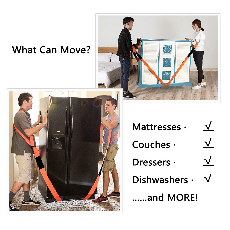 Levantamiento y Correas Móviles, Sistema de Elevamiento y Movimiento para 2 Personas YOOFAN: Fácil de Mover, Levante, Transporte Muebles, ...