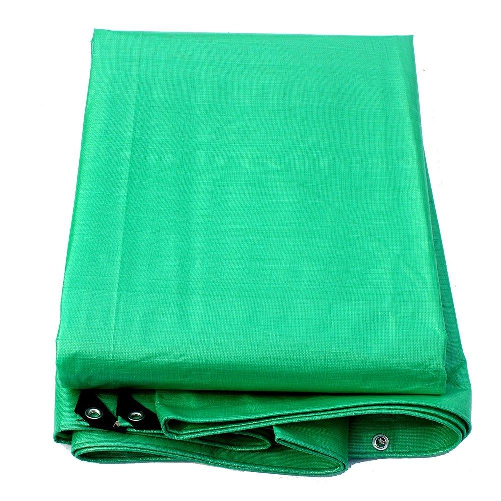 GUOWEI-pengbu ターポリン シェード布 日焼け止め 防水 耐寒性 防湿 防塵の 老化防止 不凍液 ポリエチレン (色 : Green, サイズ さいず : 7.5x11.5m) B07FXNLGZ5  Green 7.5x11.5m