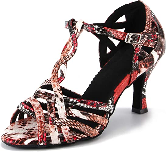 LOVELY BEAUTY Ladys Ballroom Fabric and Meshmps Dance Shoes