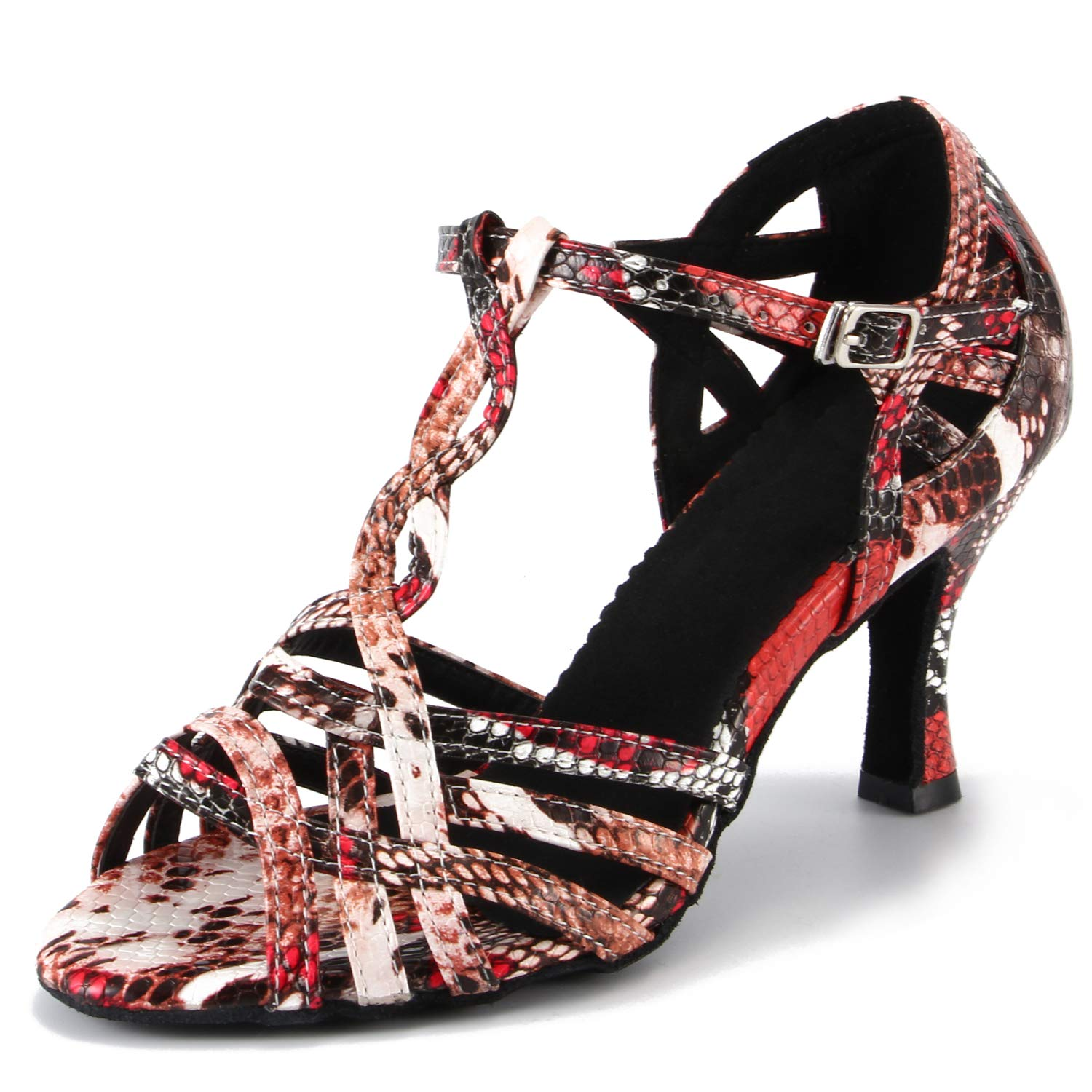LOVELY BEAUTY Ladys Ballroom Dance Shoes for Chacha Latin Salsa Rumba Practice