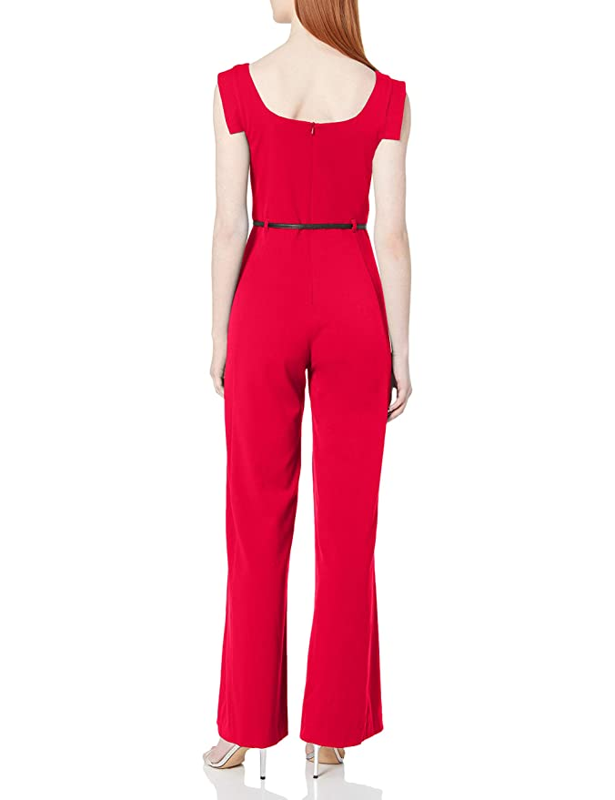 Losait Womens Sleeveless Pure Color Skinny Wide Leg Slim Jumpsuits Romper