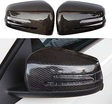 NEW Carbon Fiber Side Mirror Cover Cap For Mercedes A B C E GLA Class W204 W212