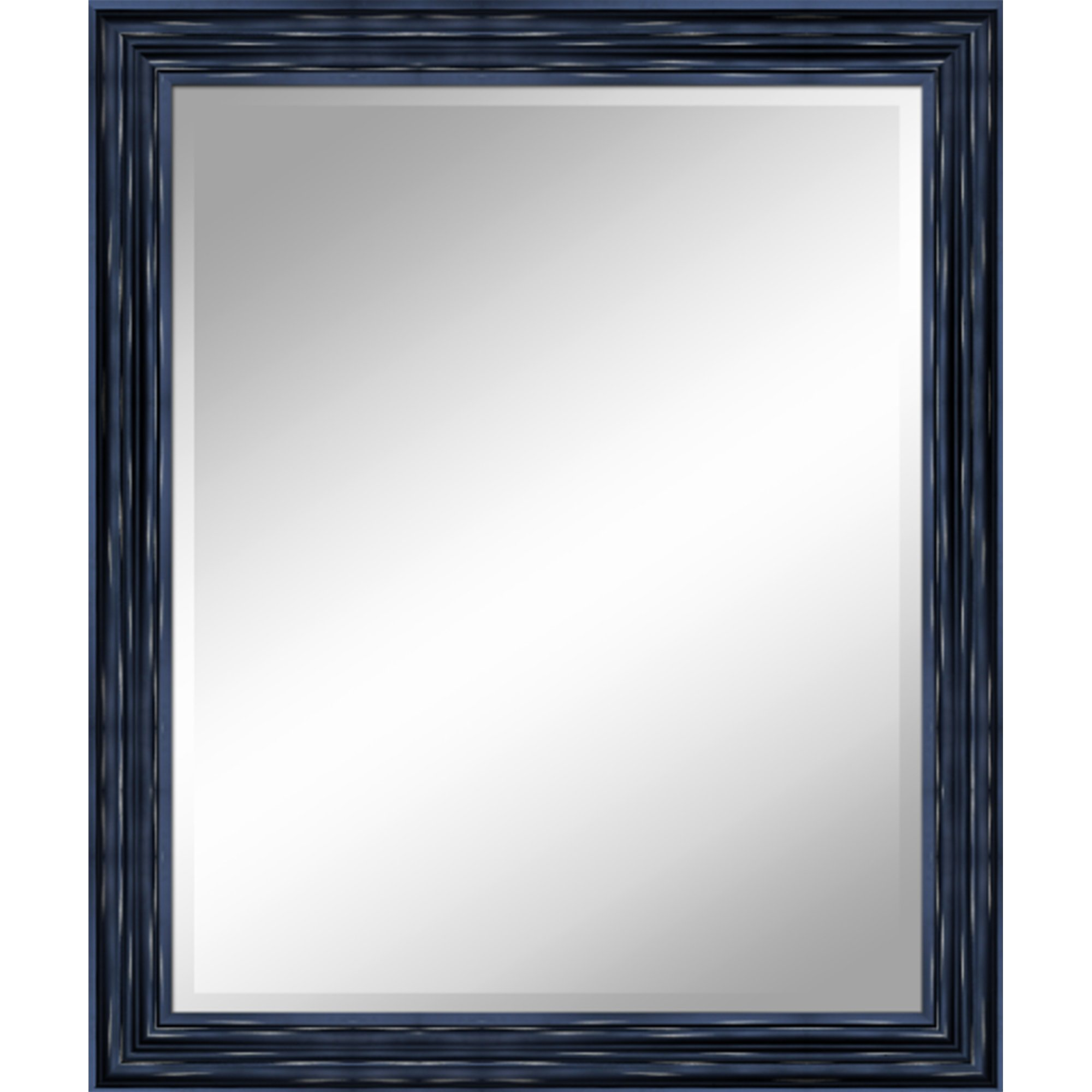 AA Warehousing 31 X 37 Antique Black 1'' Bevel with 3.5'' Frame Accent Mirror, by AA Warehousing