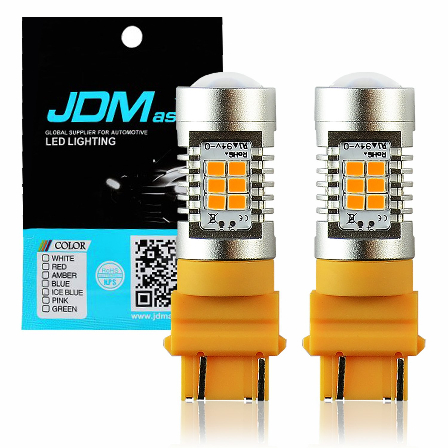 Best Rated In Automotive Turn Signal Bulbs Helpful Customer Electronics Technology Pink Flicker Noise Generator Circuit Jdm Astar 1260 Lumens Extremely Bright Px Chips 3057 3156 3157 4057 4157 Amber Yellow