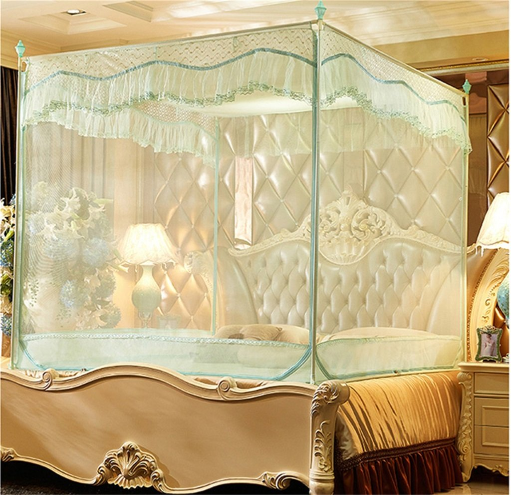 Moskito-Netz-Bett-Überdachungs-Zelt-Vorhänge für Betten Schlafzimmer-freie bewegliche Klammer Innenkampierender Student im Freien wenden an 1.2 / 1.5 / 1.8m / 2m Bett an ( Farbe : B , größe : 1.8M )