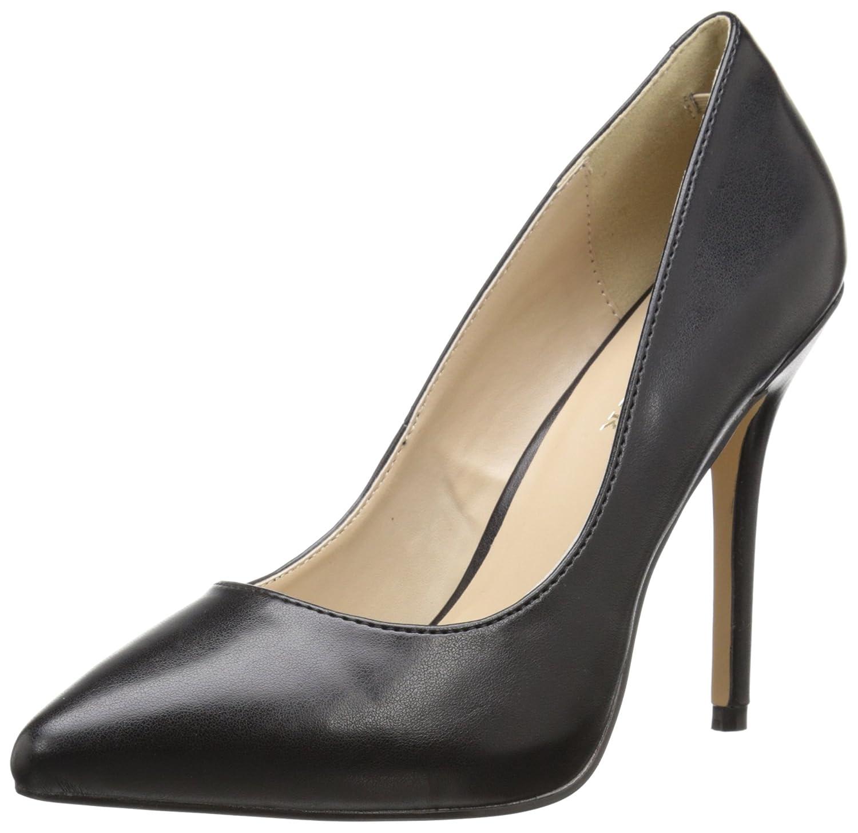 Pleaser Amuse 20 - Zapatos Cerrados para Mujer 36 EU|Negro (Blk Faux Leather)