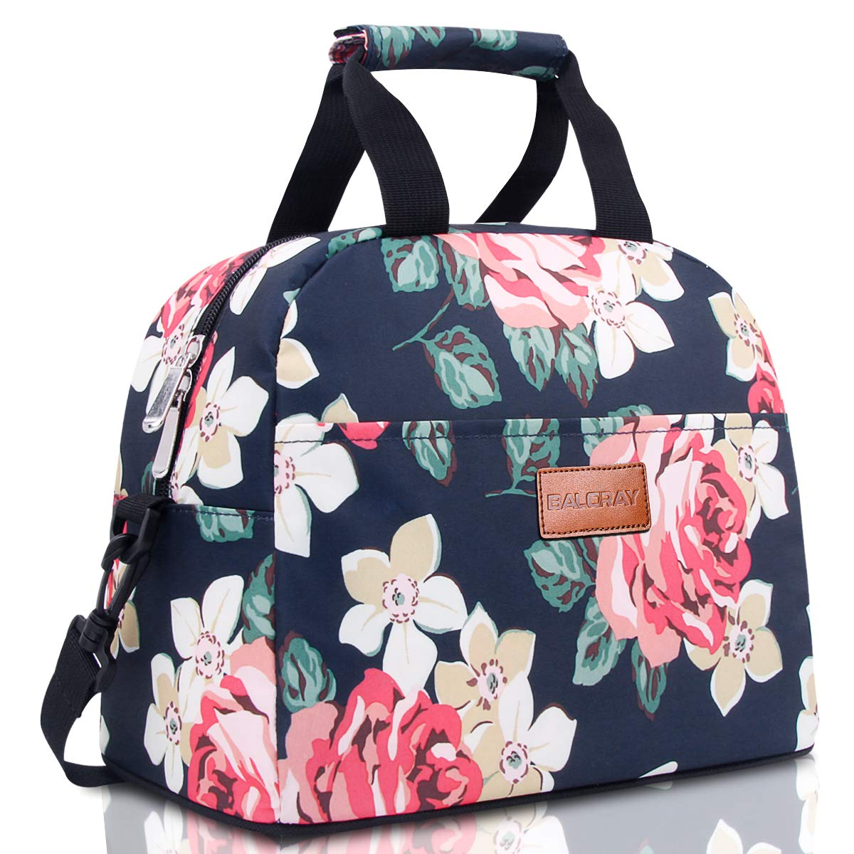BALORAY Lunch Bag for Women Lunch Cooler Bag with Shoulder Strap Insulated Lunch Tote Bag Lunch Box Perfect for Work Picnic Fishing Boating(Dark Blue) by BALORAY