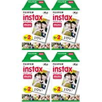 Fuji Mini Instant Film for Instax Cameras (4 Twin Packs, 80 Total Pictures)