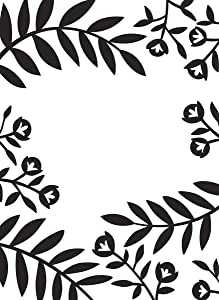 Darice, Clear Flowers and Leaves, 4.25 x 5.75 inches Embossing Folder