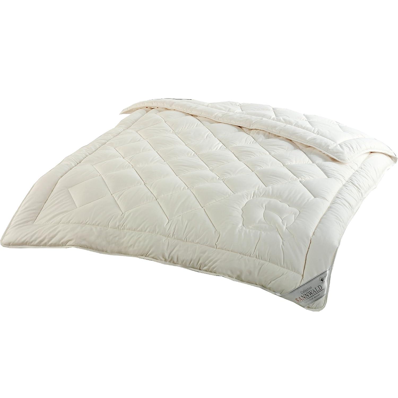 Sannwald kbA-Baumwolle - 155x220 cm, Ganzjahres Bettdecke, kdA BIO Qualität, extra groß