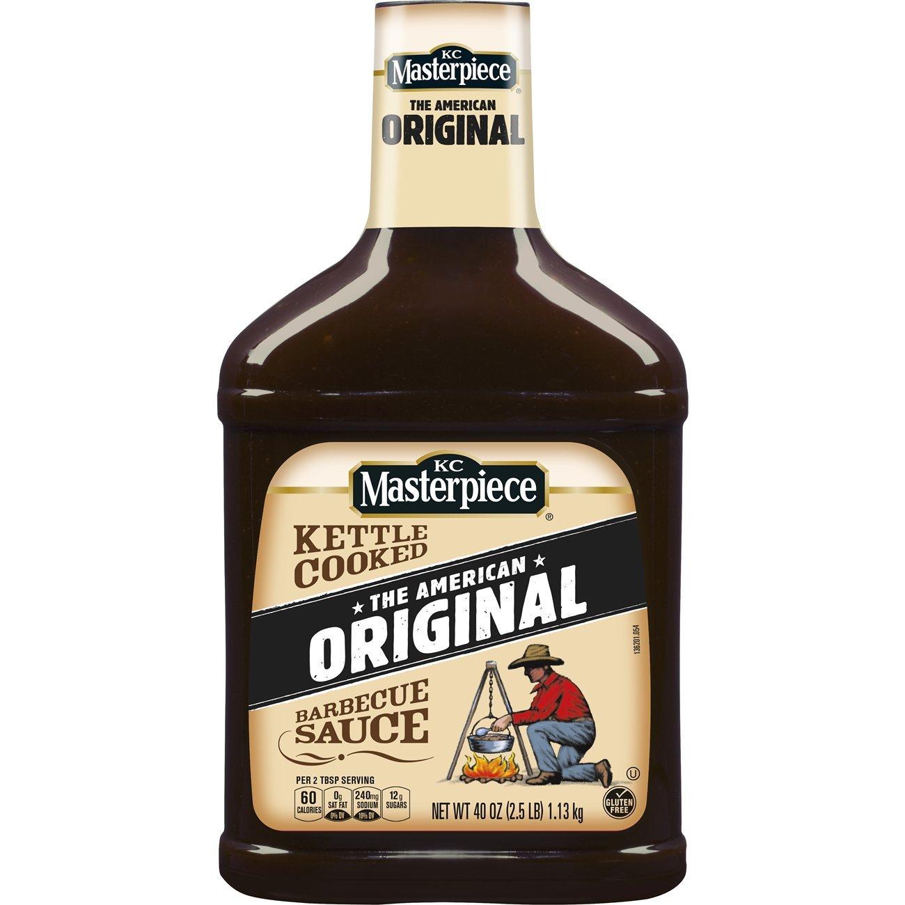 KC Masterpiece Original Barbecue Sauce, 40 Ounces, (Pack of 3)