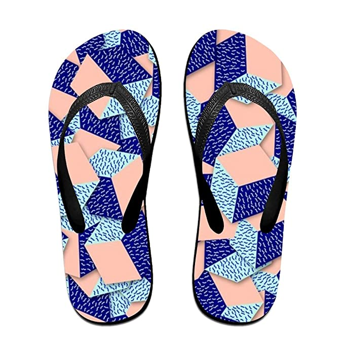 137d51677b2c Amazon.com  Stylish Lightweight Women s Men s Personalized Beach Flip Flops  Fashion Beach Slippers  Clothing