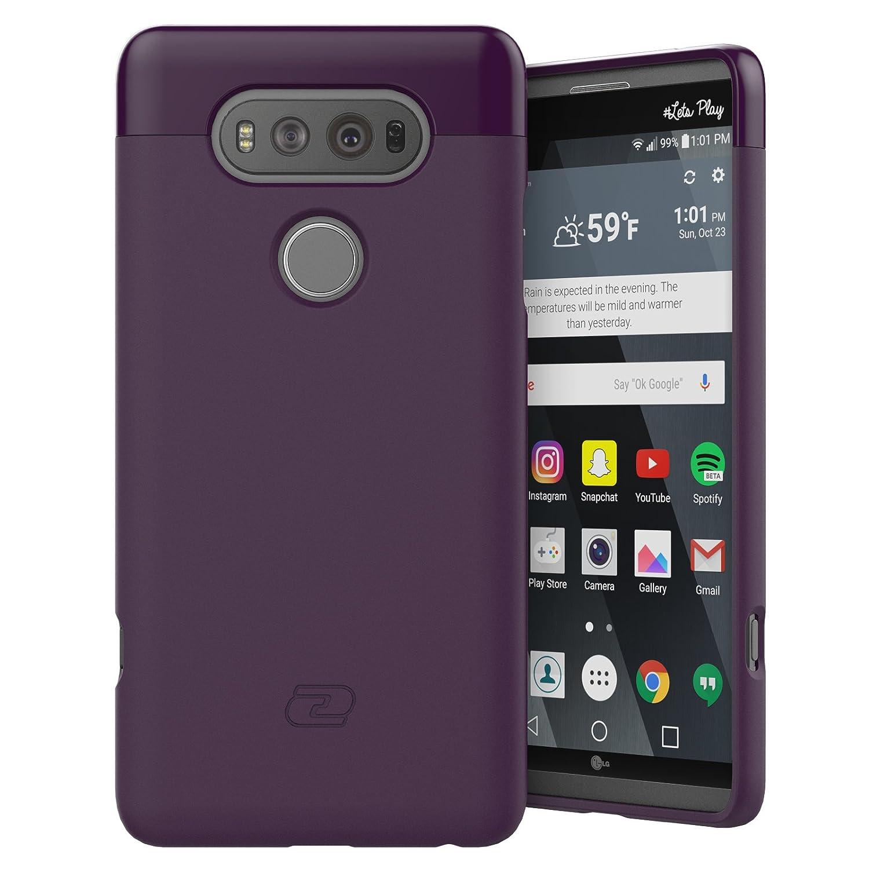 huge selection of c86b8 05562 LG V20 Case Purple - Encased Ultra Thin (2016 SlimShield Edition) Full  Coverage, Hybrid Tough Shell