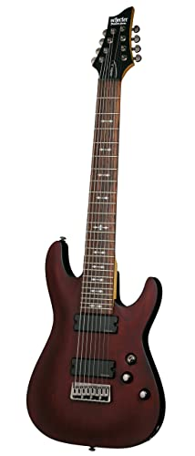 Schecter OMEN-8 8-String Electric Guitar, Walnut Satin