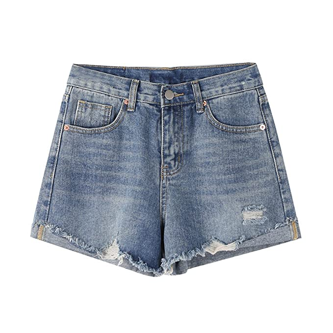 3ca44eaf1e08 Chic Jean Shorts for High Waist Shorts Summer Sexy Distressed Denim Booty  Jeans Shorts for Women