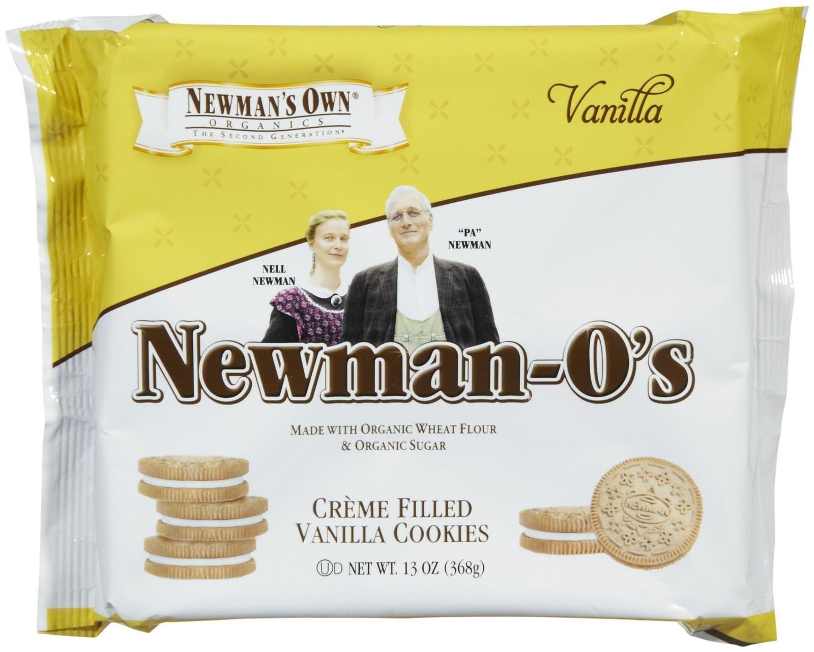 Newman's Own Organics Newman-O's Vanilla Creme Filled Vanilla Cookies